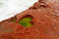 Forma del corazón en la roca roja Fotografía de archivo libre de regalías