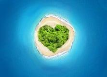 Forma del corazón de la isla Foto de archivo