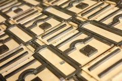 Forma del cortador - industria del polygraphy Fotos de archivo libres de regalías