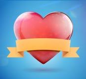 Forma del cuore Immagini Stock
