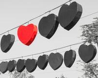 Forma del cuore con il cielo Fotografie Stock