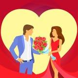 Forma del cuore delle coppie di festa di giorno di S. Valentino Immagine Stock