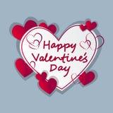 Forma del cuore di amore di Valentine Day Gift Card Holiday Fotografia Stock