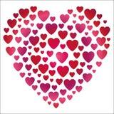 Forma del cuore di gradiente del biglietto di S. Valentino Fotografie Stock Libere da Diritti