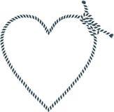 Forma del cuore fatta con la corda illustrazione vettoriale