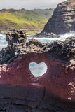 Forma del cuore a Nakalele Maui fotografia stock