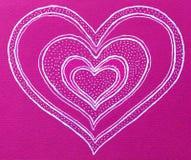Forma del cuore su fondo rosa illustrazione vettoriale