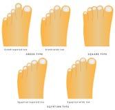 Forma del dedo del pie Imagen de archivo