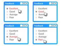 Forma del feedback Imagen de archivo libre de regalías