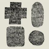 Forma del garabato de la pluma Imagen de archivo libre de regalías