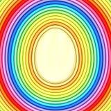 Forma del huevo de Pascua integrada por tubos metálicos coloridos Foto de archivo libre de regalías
