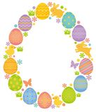 Forma del huevo de Pascua Marco del huevo libre illustration