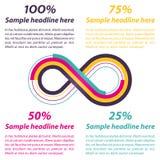 Forma del infinito para el infographics Imagen de archivo libre de regalías