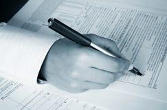 Forma del IRS Imagen de archivo libre de regalías