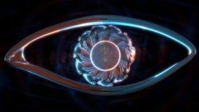 Forma del ojo de cristal Imagen de archivo libre de regalías