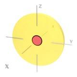 Forma del orbitario atómico 2s en el fondo blanco Ot disponible Imagenes de archivo