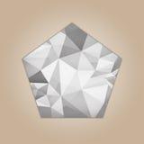 Forma del pentágono del diamante Fotografía de archivo libre de regalías
