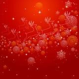 Forma del reno de la Feliz Navidad y composición EPS10 de los copos de nieve Imagen de archivo libre de regalías