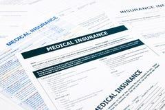 Forma del seguro médico, Imagen de archivo libre de regalías