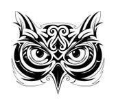 Forma del tatuaje del búho Fotografía de archivo libre de regalías