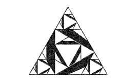 Forma del triángulo hecha de triángulos más pequeños Imágenes de archivo libres de regalías