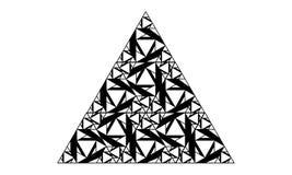 Forma del triángulo hecha de triángulos más pequeños Foto de archivo
