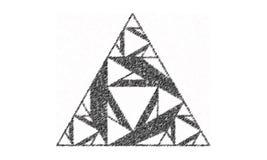 Forma del triángulo hecha de triángulos más pequeños Imagenes de archivo