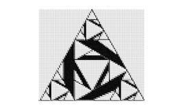 Forma del triángulo hecha de triángulos más pequeños fotografía de archivo