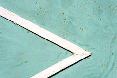 Forma del triángulo del metal blanco Imágenes de archivo libres de regalías
