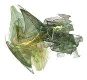 Forma del vapor del tono de la tierra verde en blanco