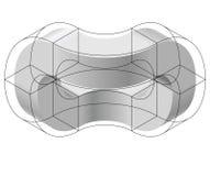 Forma del vector curvado del extracto Marca isométrica de institución científica, centro de investigación, laboratorios biológico libre illustration
