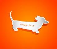 Forma del vector del perro basset Imagenes de archivo