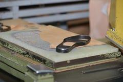 Forma del zapato del metal Imágenes de archivo libres de regalías