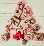 Forma dell'albero di Natale Fotografia Stock