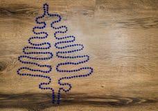Forma dell'albero di Natale Fotografia Stock Libera da Diritti