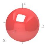 Forma dell'orbitale atomico 1s su fondo bianco Ot disponibile royalty illustrazione gratis