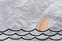 Forma della carta dell'aletta dello squalo Fotografie Stock