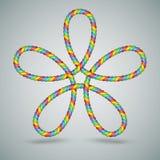 Forma della corda merlettata celtico di Multicilor Immagini Stock