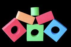 Forma della piramide delle particelle elementari Fotografia Stock
