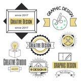 Forma di affari dell'estratto della raccolta della decorazione di identità della società di logo di progettazione di arte grafica Immagini Stock Libere da Diritti