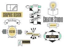 Forma di affari dell'estratto della raccolta della decorazione di identità della società di logo di progettazione di arte grafica Immagine Stock Libera da Diritti
