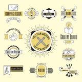 Forma di affari dell'estratto della raccolta della decorazione di identità della società di logo di progettazione di arte grafica Immagini Stock