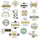 Forma di affari dell'estratto della raccolta della decorazione di identità della società di logo di progettazione di arte grafica Fotografia Stock Libera da Diritti