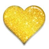 FORMA di AMORE del biglietto di S. Valentino dell'oro royalty illustrazione gratis