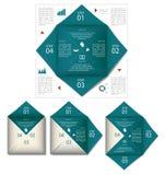 Forma di carta grafica di informazioni in blu Fotografia Stock Libera da Diritti