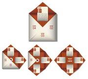 Forma di carta grafica di informazioni nel rosso Fotografie Stock