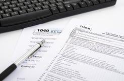 Forma di imposta sul reddito Immagine Stock Libera da Diritti