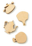 Forma di legno del giocattolo su bianco Immagine Stock