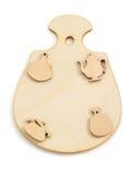 Forma di legno del giocattolo su bianco Fotografie Stock Libere da Diritti