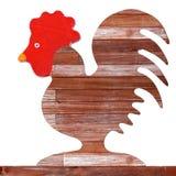 Forma di legno del pollo Fotografia Stock Libera da Diritti